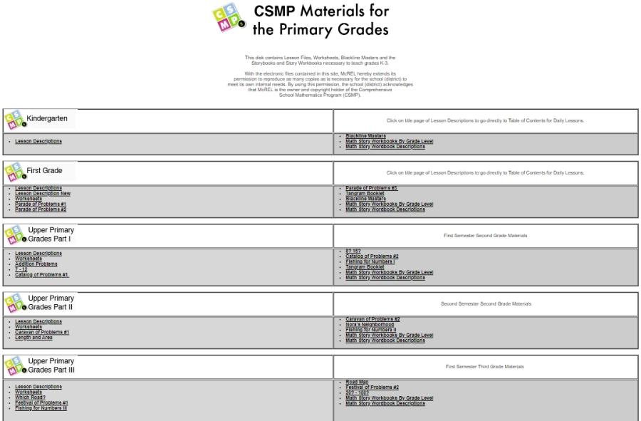 CS Primary Mathematics Program